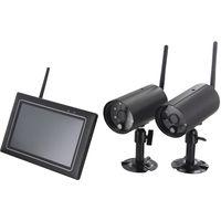 Kit de 2 caméras sans fils avec écran tactile IP