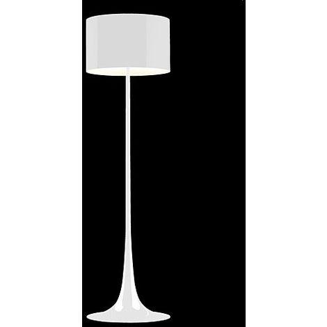 Lámpara FLORENCE pie salón, blanca, pantalla gris claro