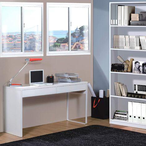 Mesa ordenador con estanteria a juego en Color Blanco Artik