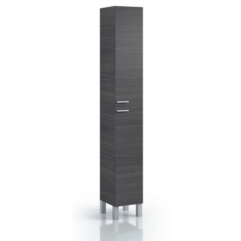 Armario columna de Baño con 4 estantes Gris ceniza