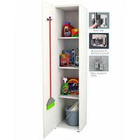 Armario multiusos y escobero almacenaje 1 puerta color blanco 190cm alto