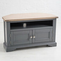 Faversham Corner TV Cabinet - Dove Grey
