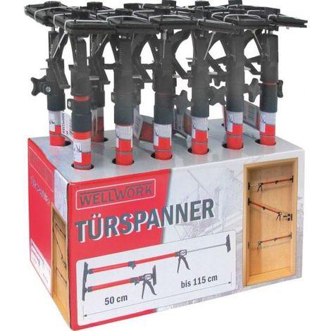 Türspanner Türspreize 12 Stück Türfutterstrebe 50-115 cm Zargenspanner