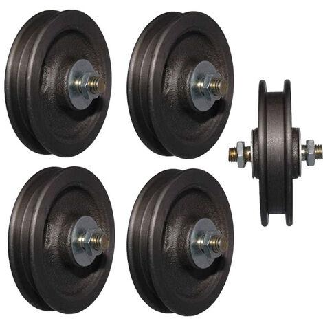 HBS Roulettes de portail, en vrac, 75 mm, 5 pièces