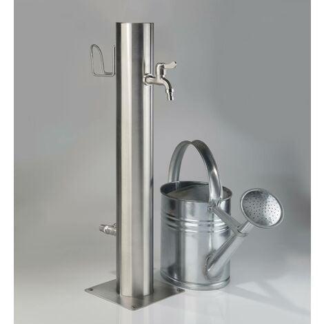 Robinet d'extérieur en acier inoxydable à 2 robinets et porte-tuyau Westfalia Wasserwelten