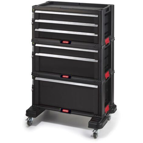 Chariot d'atelier 6 tiroirs - All Drawer - 59,8 x 37,7 x 83,2 cmKeter