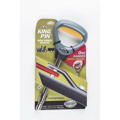 """Crochet d'attelage à goupille de verrouillage """"King Pin"""" gris"""