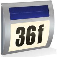 Numéro de maison solaire WAVE - IP44 - 2800K - blanc chaud Esotec