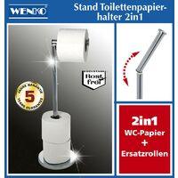 Porte-papier WC 2en1, acier inoxydable Wenko