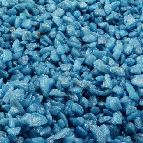 Gravier épais 6-9 mm bleu clair pour fond d'aquarium - Sac 2 kg