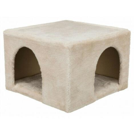 Abri d'intérieur douillet en peluche pour rongeurs Trixie - 36 × 25 × 36 cm