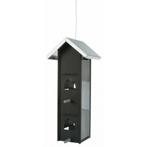 Mangeoire en métal à suspendre pour oiseaux - 750 mL/12 x 28 x 12 cm