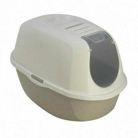 Maison de toilette pour chat Smart Cat blanche et grise Anka
