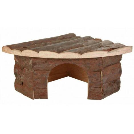 Maison d'angle Jesper Natural Living Trixie pour rongeurs Longueur 32 cm Largeur 21 cm Hauteur 13 cm (Cochons d'inde)