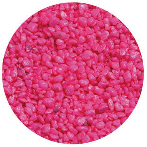 Gravier Neon Rose pour aquarium Flamingo 1 Kg
