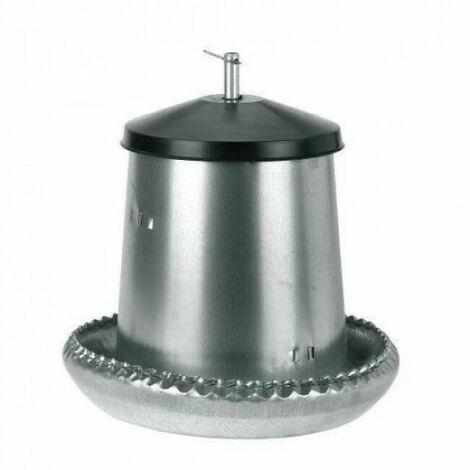 Mangeoire nourrisseur à trémie galvanisée pour poussins 5 litres Kerbl