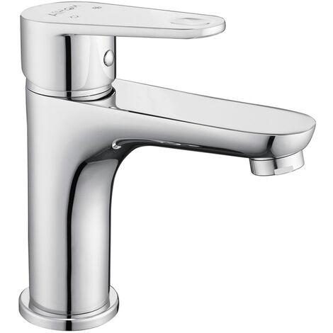 robinets chaud//froid avec corps de robinet en laiton robinet de salle de bain Robinet de lavabo moderne /à monocommande Mitigeur de lavabo fini chrom/é blanc