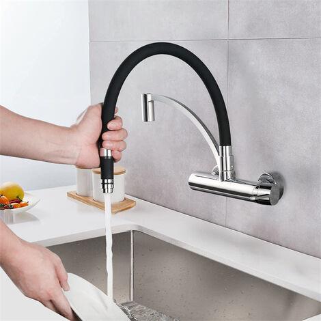 Robinet de Cuisine Vert Mitigeur /Évier Rotatif /à 360/° Pulv/érisation Mitigeur Cuisine Surakey Mini Filtre /à eau de Robinet avec Douchette Extensible