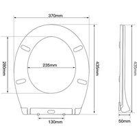 Abattant WC Lunette de Toilette avec Frein de Chute 43,5x37x5cm Abaissement en Douceur Sans Bruit Siège de Cuvette