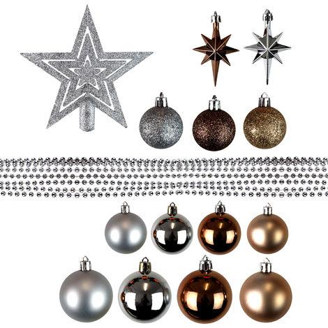 46 Stück Weihnachtskugeln Christbaumkugeln Baumschmuck verschiedene Modelle