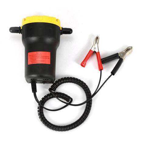 Pompe à vidange Kit huile éléctrique Huile et Gazoil par Aspiration 12V Voiture Auto