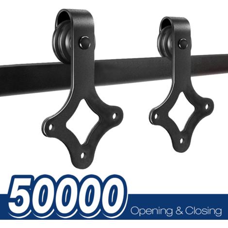 Ferrure de porte coulissante Système de porte coulissante Verre coulissant / porte en bois 183CM