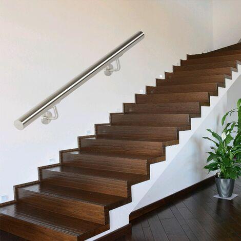 Lot De 1 Rambardes 150 cm Inoxydable Rampes Escalier, Mains Courantes - Argent