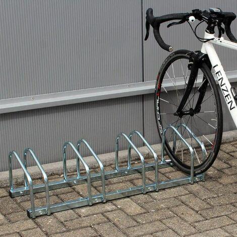 Râtelier Familial pour Vélo, Support de Rangement Vélo, Peut contenir 4 vélos, vélos garage pratique au sol ou mural acier