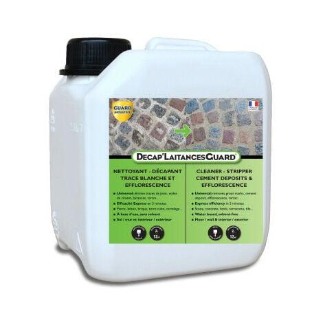 Anti-laitance Tartre, Ciment sur Carrelage, Marbre, Tomette, etc - Décap'Laitances Guard Ecologique 2 L - traite 12m²