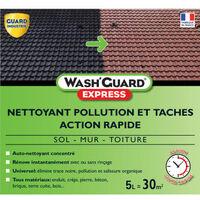 WashGuard Express - Nettoyant extérieur désincrustant version ultra rapide sans rinçage - 5 L - jusqu'à 30 m²
