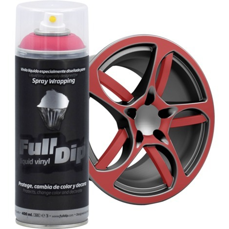 Spray Full Dip Couleur Solide Vinyle Liquide 400 mL | rouge Carmin