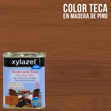 Huile pour teck à l'eau Xylazel | 750 ml - Teck