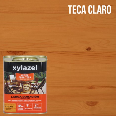 Huile de Teck Durable 750 ml Xylazel   Teck clair