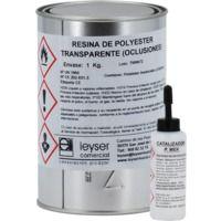 Résine Polyester Occlusions Transparente | 1 kg