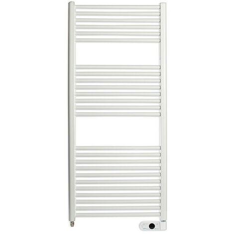 Haverland TE-700I Sèche-serviette électrique 700W | 25 Barres Chauffantes Inertie Fluide | Thermostat Digital avec Télécommande | IP44 | Blanc