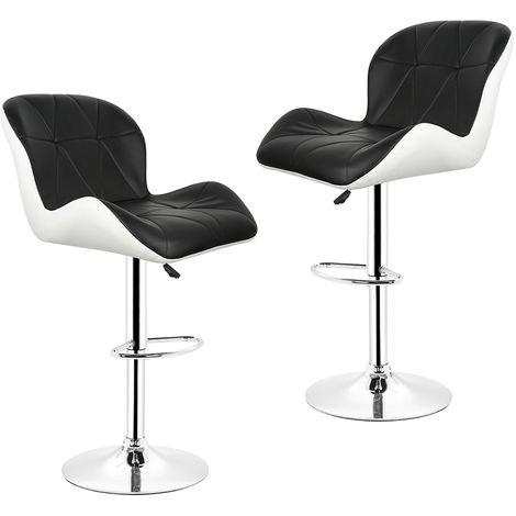 2× Barhocker Tresenhocker Stuhl Küchenhocker , Höhenverstellbar,360° drehbar