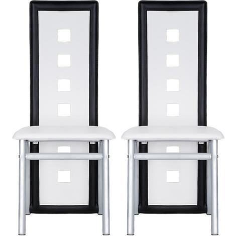 2er-set Esszimmerstühle?PVC Leder Weiß