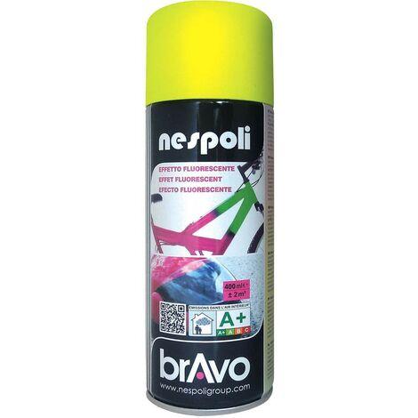 NESPOLI Peinture Aérosol Effet Fluorescent Jaune - 0,4 L