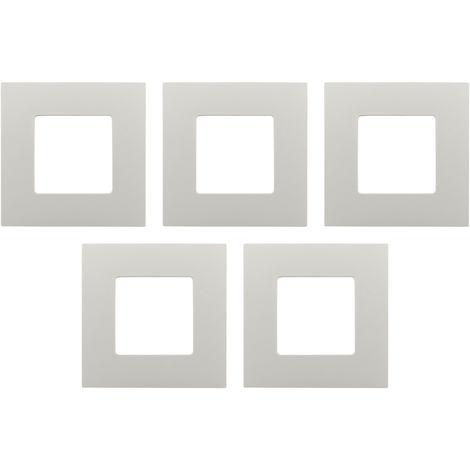 Lot de 5 Plaques de finition blanches - Clarys