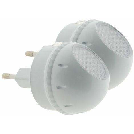 Lot de deux veilleuses LED orientables à 360° - Otio