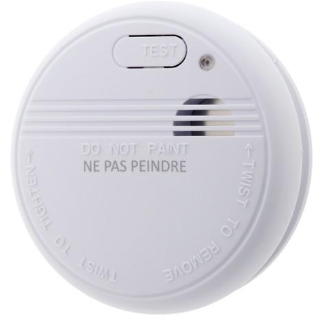 Détecteur de fumée CE - Garantie 5 ans - Autonomie 1 an - Livré avec pile et accessoires de pose - Otio