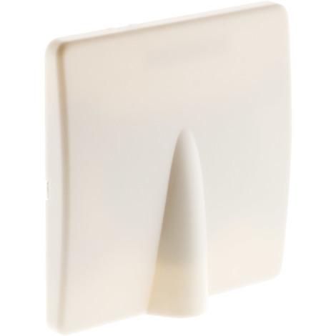 Plaque sortie de câble 16A vis + griffes Blanc - Diwone