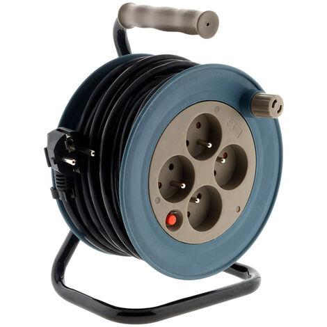 Enrouleur ménager 15m 3G1 mm² - Taupe - Zenitech