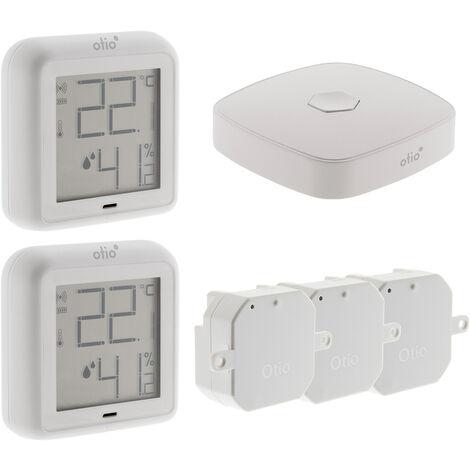 Pack de démarrage chauffage connecté OtioHome (2 thermomètres , 3 modules pour radiateur, 1 box)