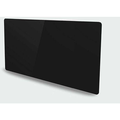 Radiateur céramique avec façade en verre (1500W) - Noir