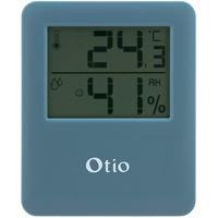 Thermomètre hygromètre magnétique bleu - Otio