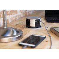 Bloc multiprise encastrable compact - 3 prises 16A 2P+T et 2x USB - Otio