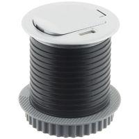 Bloc prise encastrable compact avec clapet & port usb - Otio