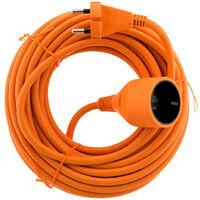 Prolongateur 16A HO5VV-F 2x 1,5 2P sans terre Orange 10m - Zenitech