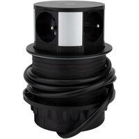 Bloc multiprise encastrable 3 prises 16A + 2x USB et chargeur induction - Otio